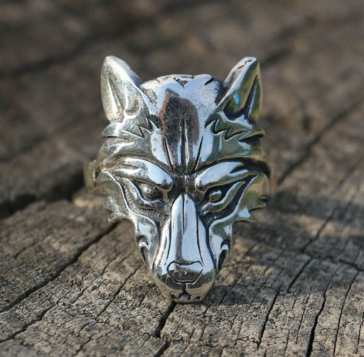 Silver Viking Wolf Ring-VikingStyle