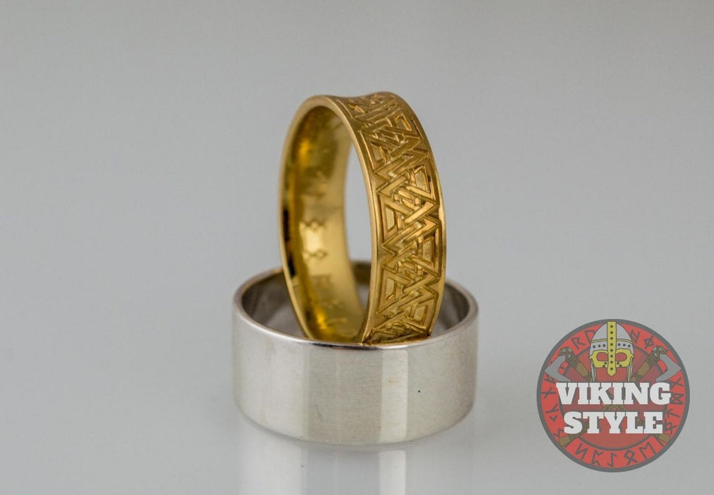 Norse Ring - Valknut, Gold