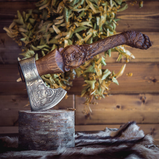 Handmade Viking Axe - Bear-VikingStyle