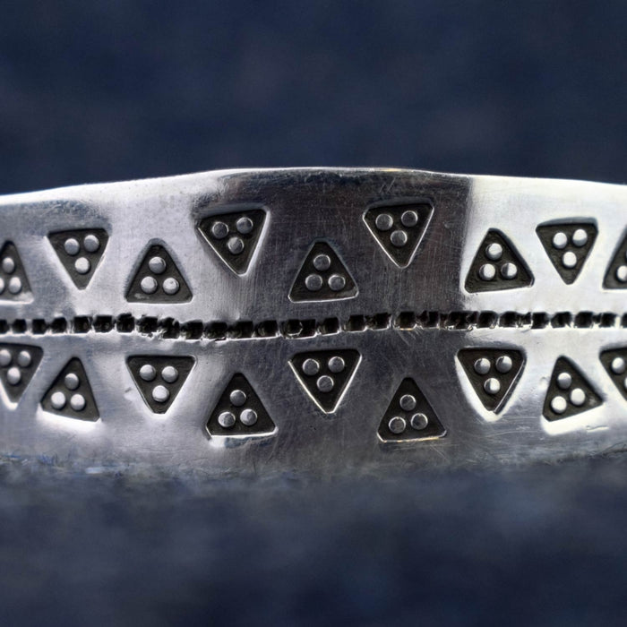 Silver Triangular Viking Cuff Bracelet