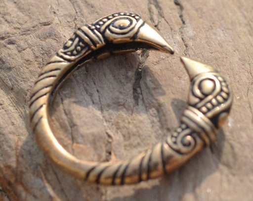 Bronze Ravens Head Ring-VikingStyle