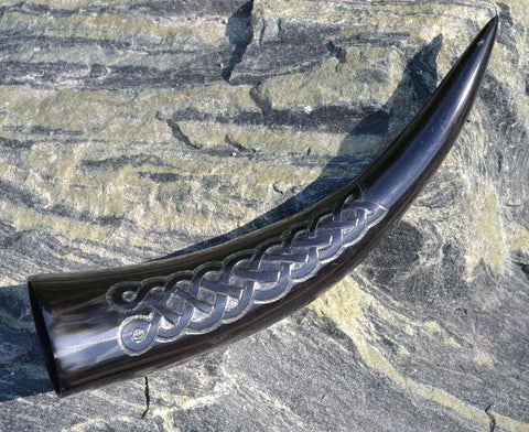 Celtic Knot Drinking Horn-VikingStyle