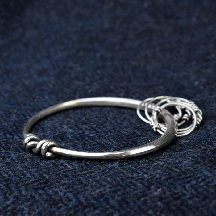 Silver Viking Bangle