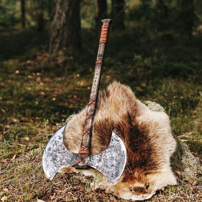 Double Headed Berserker Axe-VikingStyle