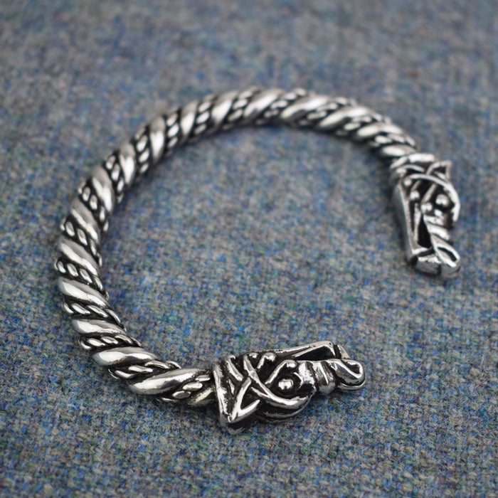 Large Viking Wolf Bracelet