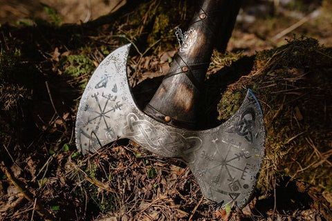 Engraved Double Sided Axe-VikingStyle