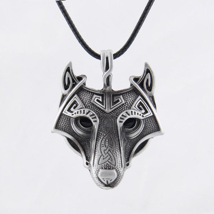 Fenrir Viking Wolf Necklace-VikingStyle