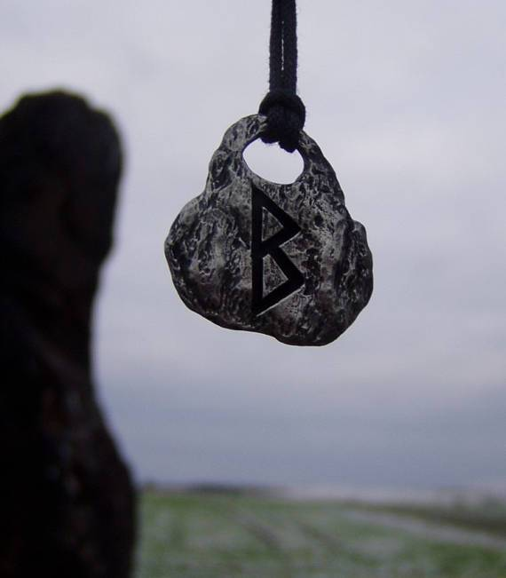Hand Forged Rune Pendant-VikingStyle