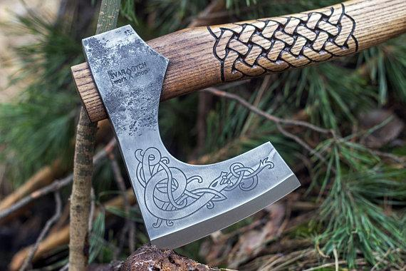 Hand Forged Viking Axe-VikingStyle