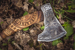 Handmade Viking Axe - Odin + Helm of Awe-VikingStyle