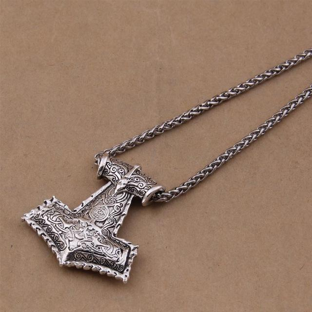 Heavy Thor's Hammer Mjolnir Viking Necklace-VikingStyle