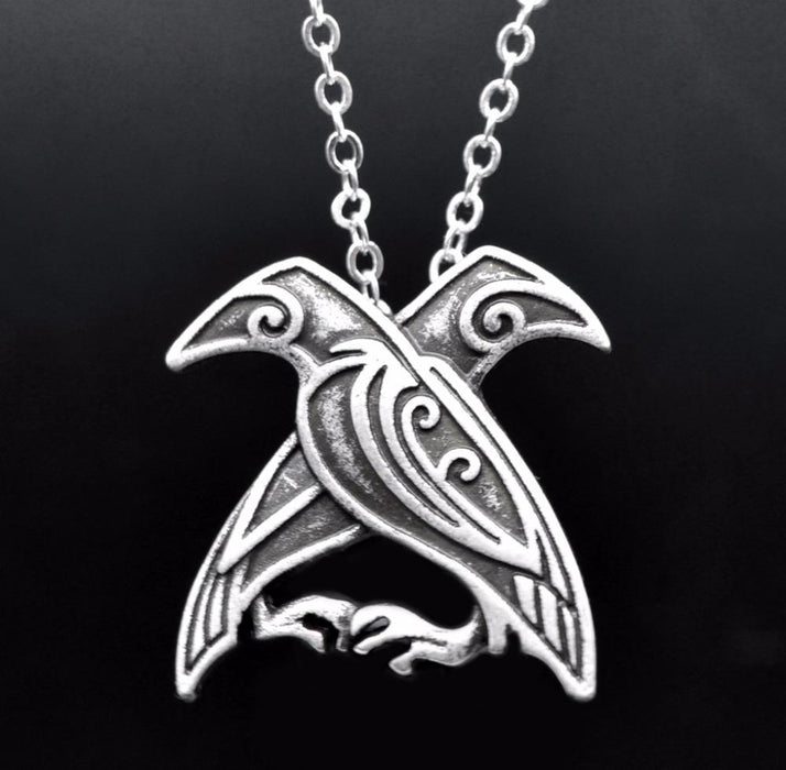 Huginn and Muninn Raven's Necklace-VikingStyle