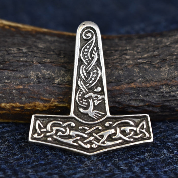 Large Silver Thor's Hammer Pendant