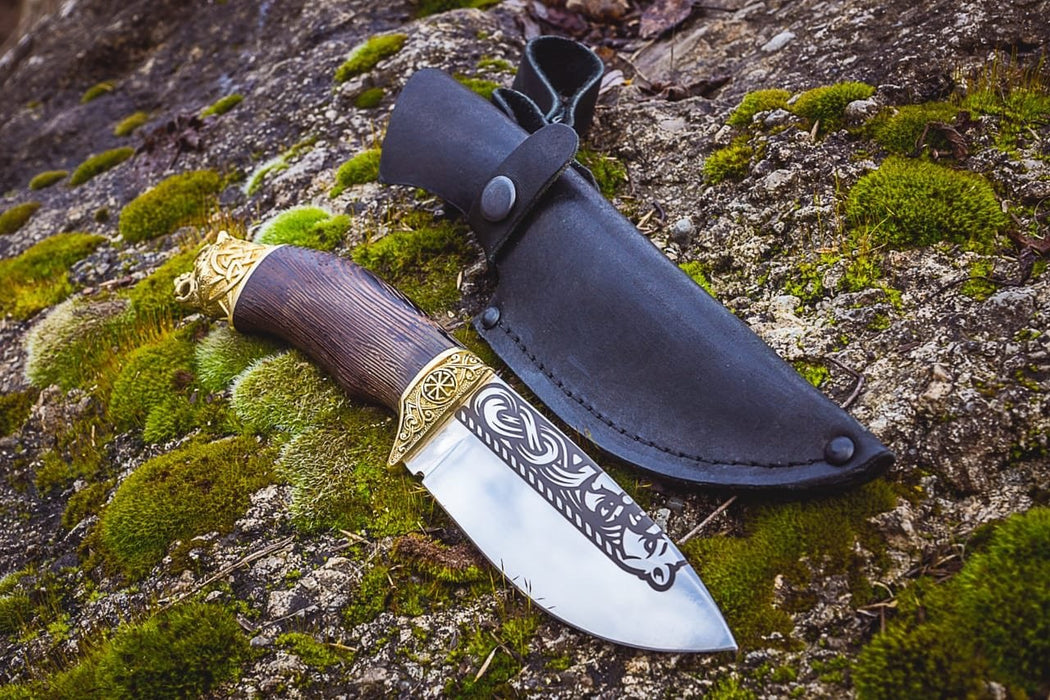 NEW - Handmade Viking Knife - Bear-VikingStyle