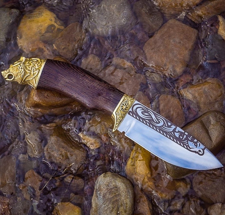 Handmade Viking Knife - Bear-VikingStyle