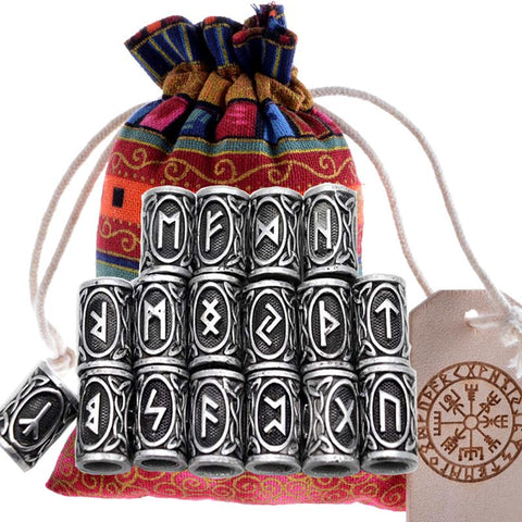 Norse Rune Beads - Full 24pcs Set-VikingStyle