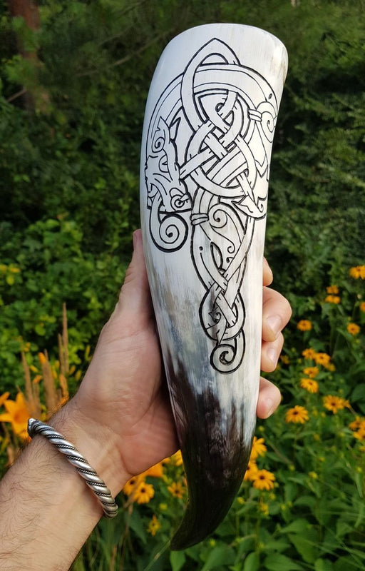 Norse Wolf Drinking Horn-VikingStyle