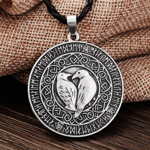 Odin's Ravens Necklace - Huginn and Muninn-VikingStyle
