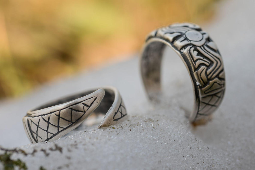 Silver Borre Ring Replica-VikingStyle