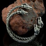 Silver Dragon Arm Ring-VikingStyle