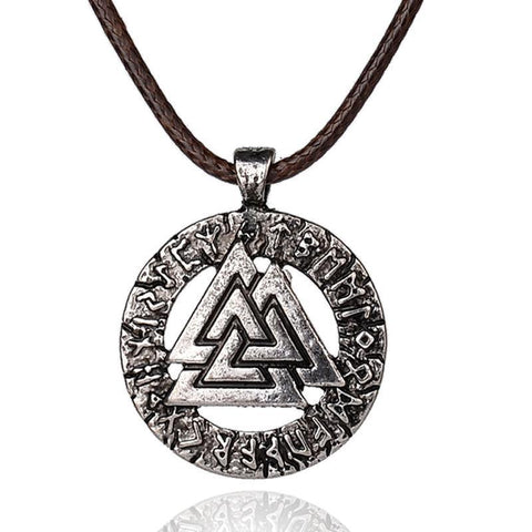 Valknut Viking Necklace-VikingStyle