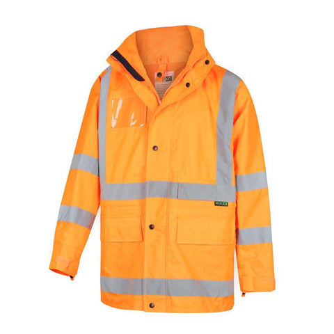 3004X Hi-Vis 5 in 1 Waterproof Biomotion X-Back Rail Taped Jacket