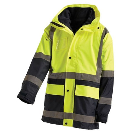 Hi-Vis 2-Tone 5 in 1 Waterproof Jacket