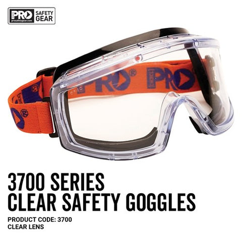 Pro Choice Safety Gear 3700 Series Goggles Clear Lens