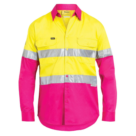 Bisley 3M Taped Cool Hi-Vis Lightweight Shirt
