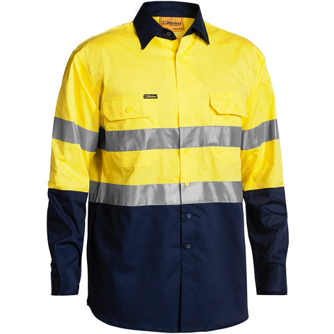 Bisley Ladies 3M Taped Two Tone Hi-Vis L/S Shirt