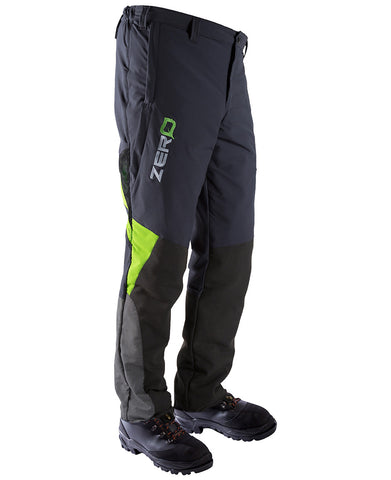 Clogger Zero Chainsaw Protective Trousers Grey/Green
