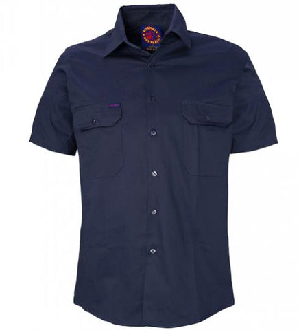 Ritemate RM1000S Open Front Navy S/S Shirt