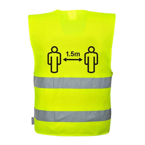 Social Distancing 1.5m Hi-Vis Safety Vest
