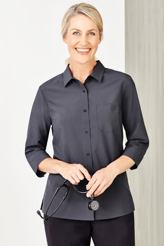 Womens Easy Stretch 3/4 Sleeve Shirt