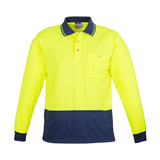 Syzmik Unisex Hi Vis Basic Spliced L/S Polo