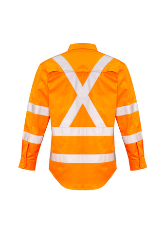 Syzmik Mens Hi Vis X Back Taped Shirt - NSW RAIL