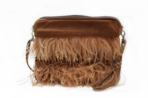 Lola Feather Sling - Toffee
