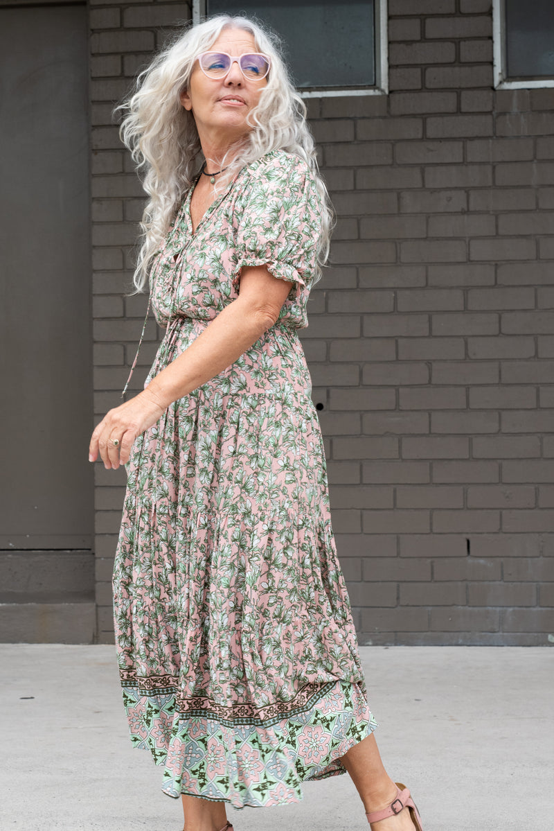 ELMA DRESS - BLUSH FLORAL
