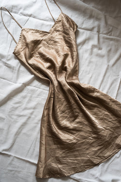 Vintage Slip Dress - Gold