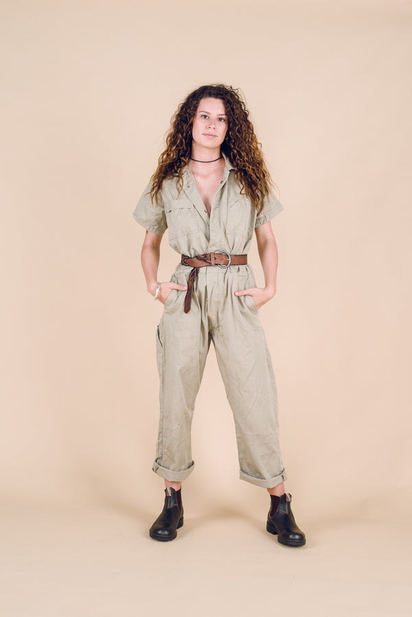 Taupe Sheila Boilersuit Size 8-10
