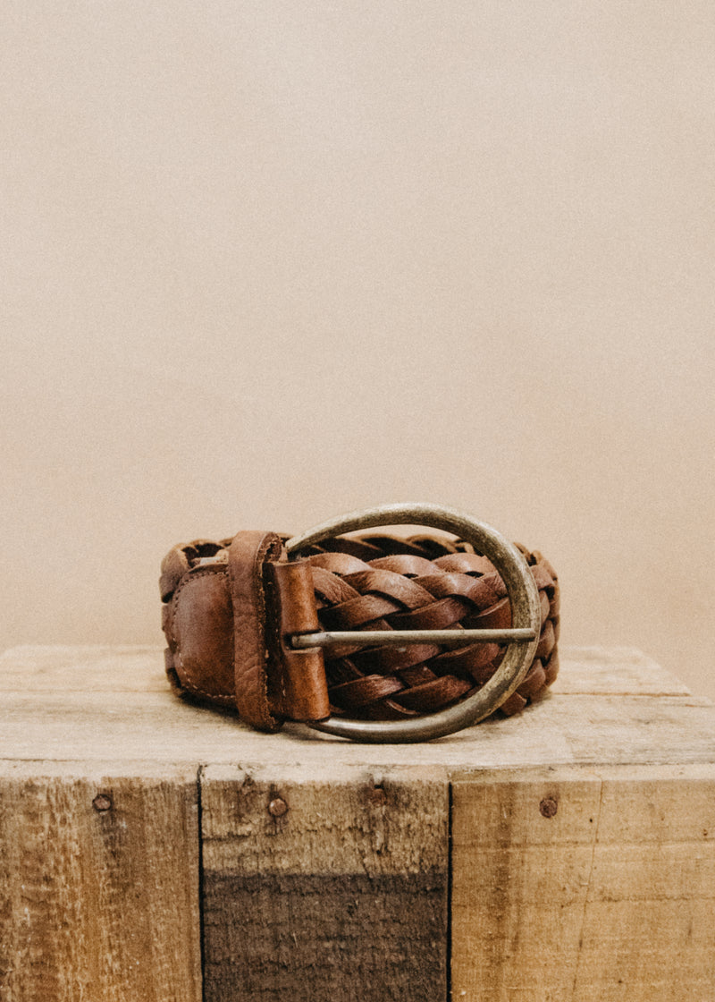 Florence Thick Chocolate Vintage Belt