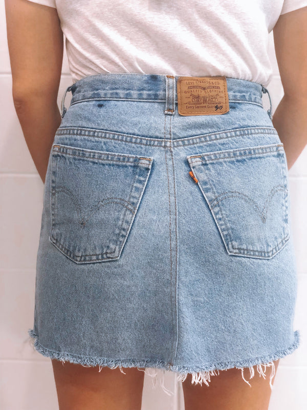 Vintage Levi's Denim Skirt Size 10