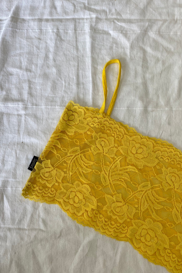 YELLOW LACE BRALETTE