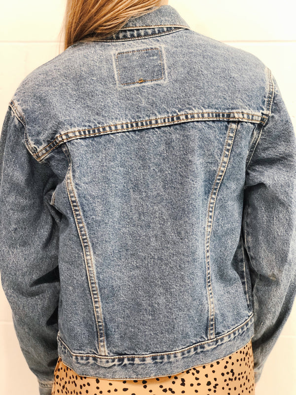 Levi Denim Jacket Size 10