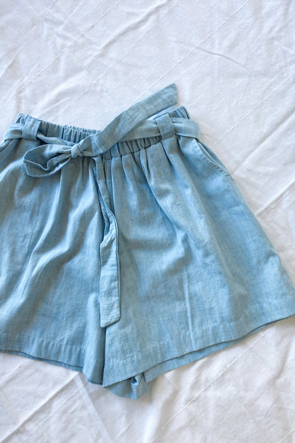 Alice Linen Short Baby Blue