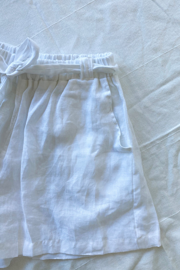 Alice Linen Short White