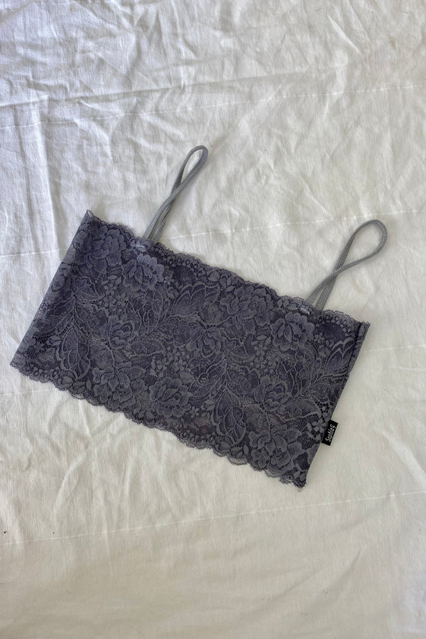 CHARCOAL LACE BRALETTE