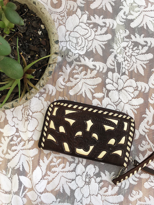 Evie Vintage Leather Purse