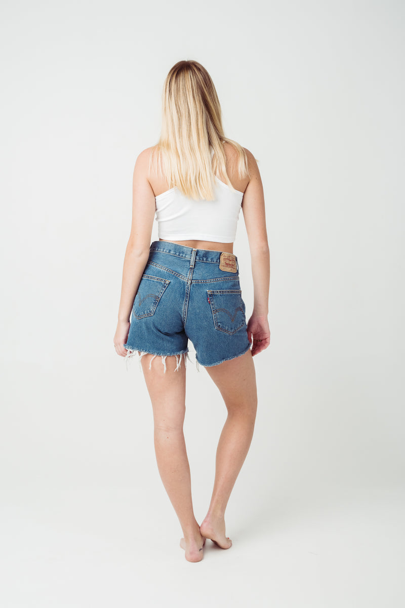 Vintage Levi's 550 Denim Shorts Size10