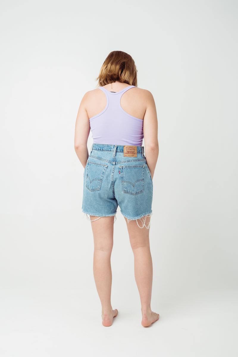 Vintage Levi's 551 Denim Shorts Size 12